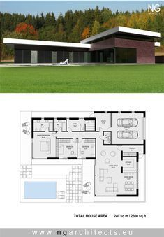 modern house plan Villa V designed by NG architects www.ngarchitects.eu