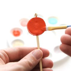 DIY Clay Lollipop Ornaments