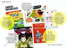 """""""Yoga para niños"""", de Mariela Maleh y Daniela Méndez, Ediciones Urano, entre las recomendaciones de revista Luz. Patricia Iacovone Agente"""