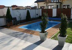 Small inground pools backyard design ideas rectangular pool wood deck
