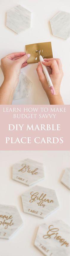 Budget Savvy DIY Marble Place Cards I Gillian Ellis Photography