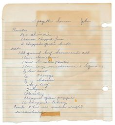 spaghetti sauce recipe posted by Forgotten Bookmarks