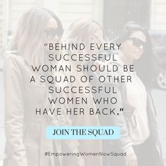 Every woman deserves a group of friends who have her back. A group of women who give her sincere life advice, business advice, and relationship advice. A group of women who she can count on regardless of the situation. Join the Empowering Women Now Squad and you'll find exactly that you've been looking for. #NoCattiness #NoDrama #JustLove #JustEmpowerment #RealWomen #RealAdvice #EmpoweringWomenNowSquad