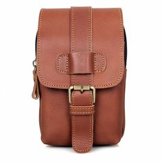 Special offer Vintage Genuine Leather Men's Phone Bag Belt Bag Waist Bag Sling Bag 5002B just only $20.77 with free shipping worldwide  #crossbodybagsformen Plese click on picture to see our special price for you