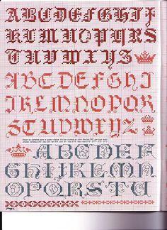 Classic Alphabet Cross Stitch Album De Broderies Au Point