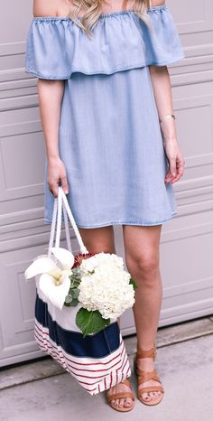 Chambray dress for s