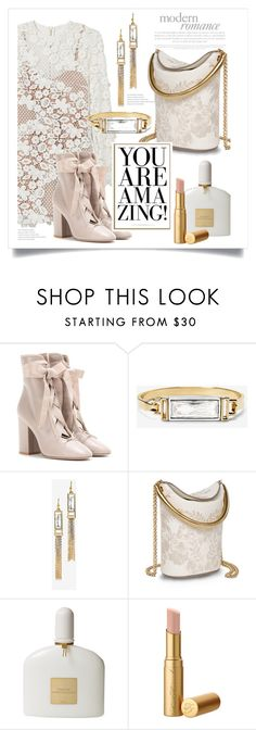 """""""Amazing"""" by kimberlyn303 on Polyvore featuring Valentino, White House Black Market, STELLA McCARTNEY, Tom Ford, booties, whitepurse, winterwhite and velvetbooties"""