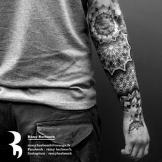 Leading Tattoo Magazine & Database, Featuring best tattoo Designs & Ideas from around the world. At TattooViral we connects the worlds best tattoo artists and fans to find the Best Tattoo Designs, Quotes, Inspirations and Ideas for women, men and couples. Mandala Tattoo Mann, Geometric Mandala Tattoo, Mandala Tattoo Sleeve, Mandala Tattoo Design, Tattoo Designs, Full Body Tattoo, Body Tattoos, Cute Tattoos, Tattoos For Guys