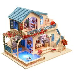 Puzzles Toys & Hobbies Diy Casa De Madera Cottage Hand-assembled House Model Villa Male And Female Birthday Gift Toy 3d Puzzle Wooden Toy For Children Durable In Use