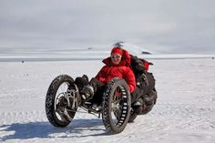 Maria Leijerstam has become the first person to pedal to the South Pole, using a trike built by Inspired Cycle Engineering. Maria Leijerstam ICE