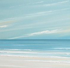 Beach ocean painting art print, seascape painting print, tropical art  by Francine Bradette-FREE S&H