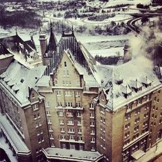Edmonton hotel macdonald winter