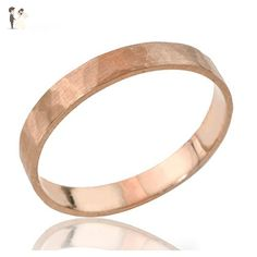 Handcrafted 14k or 18k Solid Gold Hammered Wedding Band, Unisex His and Hers Wedding Ring in Rose Gold White Gold or Yellow Gold - Card and gift boxes (*Amazon Partner-Link)