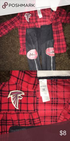 Custom Falcons Outfit 18m ATL Carter's Matching Sets