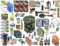 Bug Out Bag - 4 Person Deluxe - Emergency Survival Kit - 72 Hour Kit