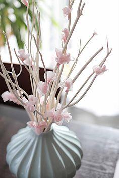 DIY Tissue Paper Cherry Blossoms