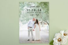 Simple Bliss Save the Date Cards by Genna Cowsert at minted.com