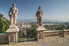 The Bardini Garden consists of 3 main areas offering Baroque and English landscaping as well as great views of the city. Sales Image, Europe Destinations, Great View, Park City, Aerial View, Florence, To Go, Italy, Statue