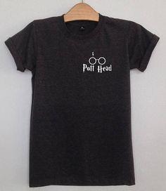 Pott head Harry potter clothing pocek tshirt unisex clothing (black large)