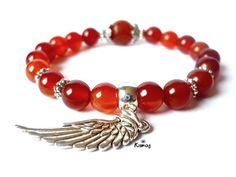 Dangles, Beaded Bracelets, Crystals, Jewelry, Fashion, Carnelian, Moda, Jewlery, Jewerly