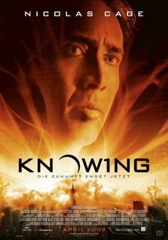 Knowing (2009) A teacher opens a time capsule that has been dug up at his son's elementary school; in it are some chilling predictions.. Nicolas Cage. Brilliantly mind-blowing!