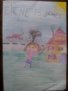 Omslag van het boekje dat dochter M. in bed schreef. Het gaat over haar schoolvriendinnetje. (07-02-2012)