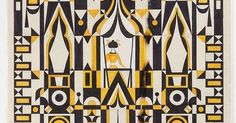 Alexander Girard, Design drawing for textile panel, early 1970s