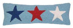 "AMERICANA STARS HOOK PILLOW 8X24"" - statementmade.com #americana"