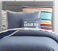 Junk Gypsy Camp Wildfire Chambray Duvet Cover #pbkids