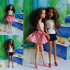 Delancey and the new friend Olivia  originally My Scene Madison Cafe Chic #dolls #dollstagram #dollcollector #dollphotography #mattel #barbiedolls #myscenedoll #myscene by kamus_navigator