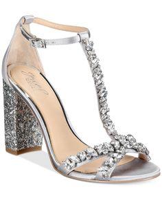 81a65680d54 Jewel Badgley Mischka Carver Block-Heel Evening Sandals   Reviews - Sandals    Flip Flops - Shoes - Macy s