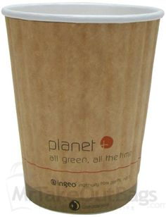 12 oz. Planet Plus2 Double Wall Compostable Paper Coffee Cup