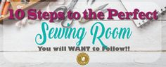 Use this steps to make your Sewing Room Plan. This Post will take you step by step on how to organize your sewing space from zero to perfect. Sewing Room Design, Sewing Room Storage, Sewing Spaces, Sewing Rooms, Sewing Patterns Free, Free Sewing, Diy Sewing Projects, Sewing Tips, Sewing Tutorials