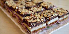 jednoduchý  a  chutný  koláčik , s  kokosovou plnkou, posypaný  lieskovými  orieškami..
