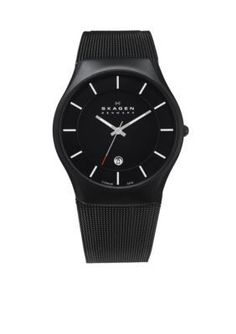 Skagen  Mens Titanium Black Watch