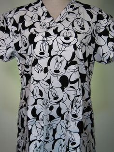 #caringplus scrub top - Minnie Mouse Happy Faces - CaringPlus scrubs and uniforms - workwear clothing for nurses, caregivers and other healthcare professionals. Perfect apparel for doctor's, dental and optician offices, nursing homes, rehab centers, vet clinics, animal hospitals, or medical labs.