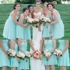 Cheap Short Mint Green Chiffon Bridesmaid Dress 2015 Sweetheart Knee Length A Line Gown Custom Made 2016 Wedding Party Guest Gowns For Beach Online with $61.79/Piece on Rosemarybridaldress's Store | DHgate.com