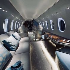 """""""Luxury private jet - Aviation - - D - Cars Jets Privés De Luxe, Luxury Jets, Luxury Boat, Luxury Private Jets, Private Plane, Luxury Travel, Wealthy Lifestyle, Rich Lifestyle, Billionaire Lifestyle"""