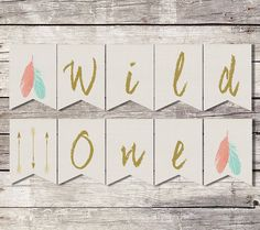 Wild One Birthday Banner First Birthday Banner by SarahFinnDesign