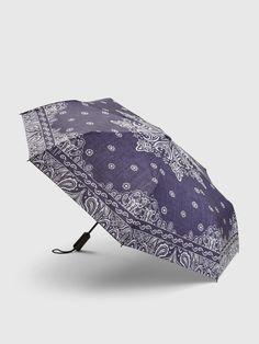 Rainy Weather, Bandana, Gap, Japanese, Handle, Plastic, Prints, Button, Umbrellas
