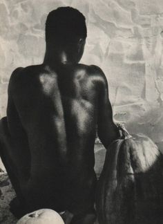 Black Male Nude, Italy, photograph by Herbert List. Herbert List, Photography For Sale, Modern Photography, Nude Photography, Street Photography, Jean Arp, Leni Riefenstahl, Frans Lanting, Original Vintage