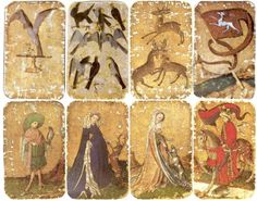 A set of German playing cards from 1430 (not Tarot, but still interesting) Medieval Games, Medieval Life, Paint Cards, Historical Artifacts, Oracle Cards, Illuminated Manuscript, Archetypes, Games To Play, Playing Games