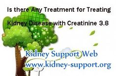Is there any treatment for treating kidney disease with creatinine 3.8 ? In clinic, creatinine 3.8 is in stage 3 kidney disease, this stage is a vital stage and can be controlled by timely treatment. If you are lucky enough to get the right treatment, you may get a chance to reverse it.