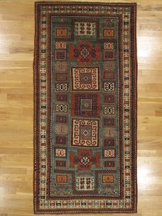 "Karatchoph double prayer Kazak rug from Southwest Caucasus.Age: circa 1885 Size: 8'.6""x4'.3"" (259x130 cm)."