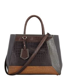2Jours Medium Colorblock Crocodile Tote Bag by Fendi at Neiman Marcus $14,500 http://www.neimanmarcus.com/Fendi-2Jours-Medium-Colorblock-Crocodile-Tote-Bag/prod174520327_cat46860739__/p.prod?icid=&searchType=EndecaDrivenCat&rte=%252Fcategory.service%253FitemId%253Dcat46860739%2526pageSize%253D120%2526No%253D0%2526Ns%253DMAX_PROMO_PRICE%257C1%2526refinements%253D&eItemId=prod174520327&cmCat=product