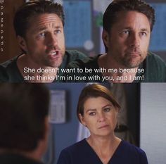 I loved Riggs & Mer together! Her first love since Derek! Greys Anatomy Spoilers, Greys Anatomy Funny, Grays Anatomy Tv, Grey Anatomy Quotes, Meredith Grey's Anatomy, Grey's Anatomy Doctors, Martin Henderson, Lexie Grey, Red Band Society