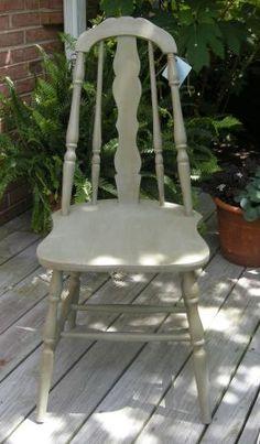 Vintage painted chair $40 #shadesofgray
