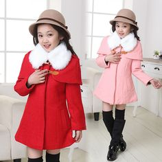I got this coat on right now and I love it so much Japanese Outfits, Japanese Clothing, America Girl, Kids Suits, Girl Doll Clothes, Children Clothes, Girl Dress Patterns, Baby Winter, Winter Coat