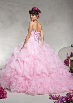 Quinceanera Gowns Style 88062: 88062 Organza with Beading http://www.morilee.com/quinceanera/quinceanera_vizcaya/88062