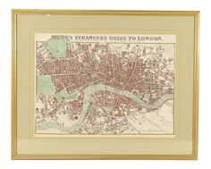 1843 Map of London on Live Now on Chairish.com